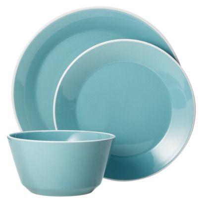 Room Essentials Angled Rim Sunbleached Turquoise Blue