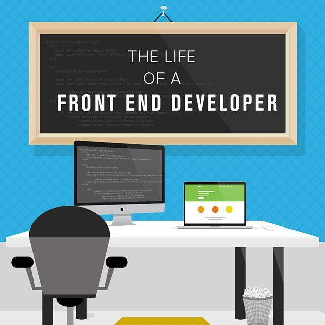 Life of a FrontEnd Developer [Infographic] Web