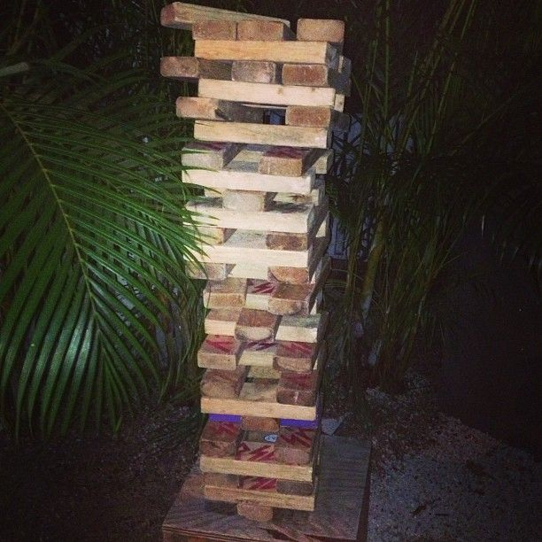 Giant Jenga | Giant jenga, Family time, South beach