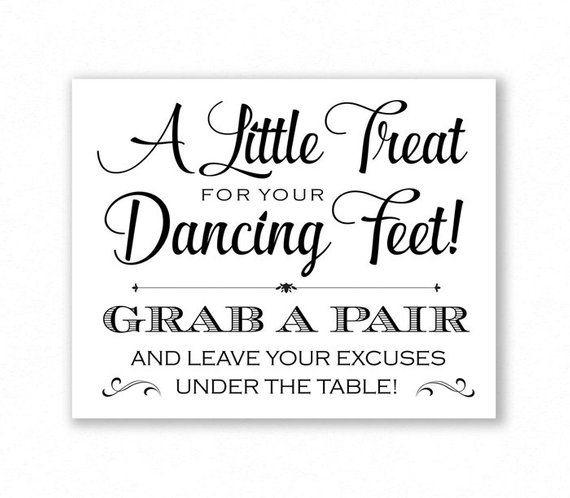 Rustic Old Vintage Dancing Shoes Flip Flops Wedding Sign Print