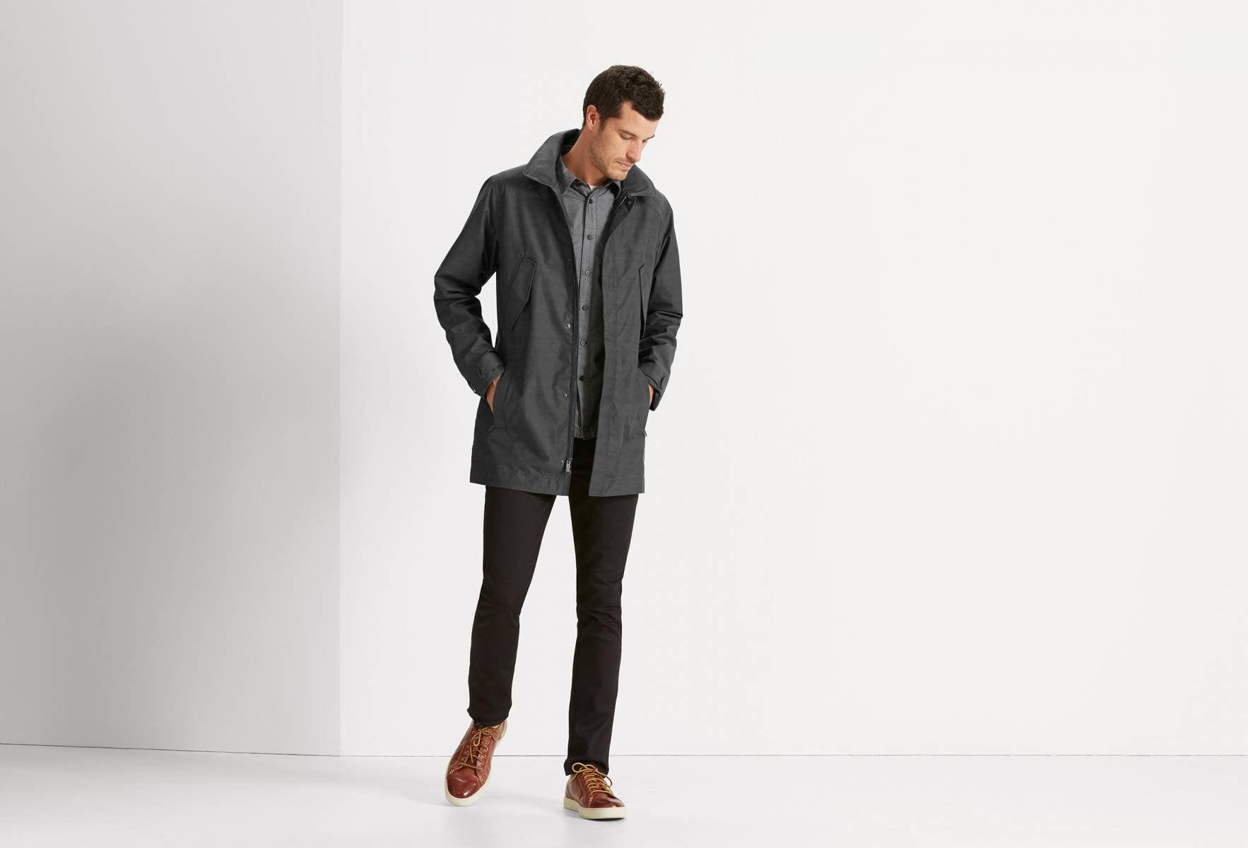 Quintessentshell Trench Men Nau Clothing Mens Rain Jacket Sustainable Clothing Brands Trench Coat Men [ 1200 x 1766 Pixel ]