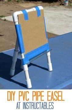 DIY PVC Easel at Instructables & DIY PVC Easel at Instructables | PVC | Pinterest | Pvc pipe Pipes ...