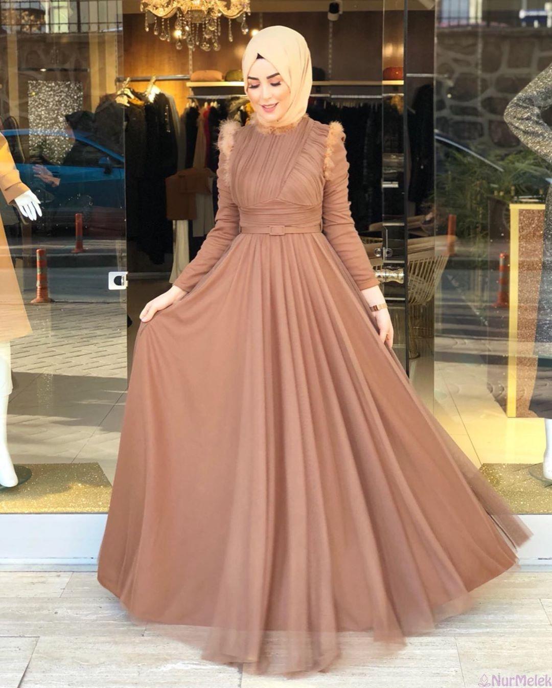 Renklere Gore Tesettur Abiye Esarp Sal Kombini 2020 Elbise Islami Giyim Ziyafet Elbiseler