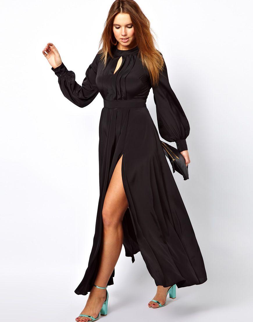 ASOS Curve  ASOS CURVE Maxi Dress With Bell Sleeve at ASOS