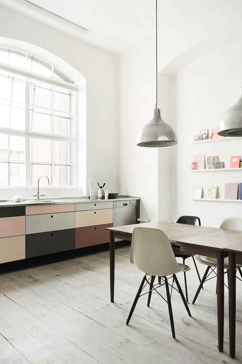 Great muted color palette on the cabinets. The Design Chaser ...
