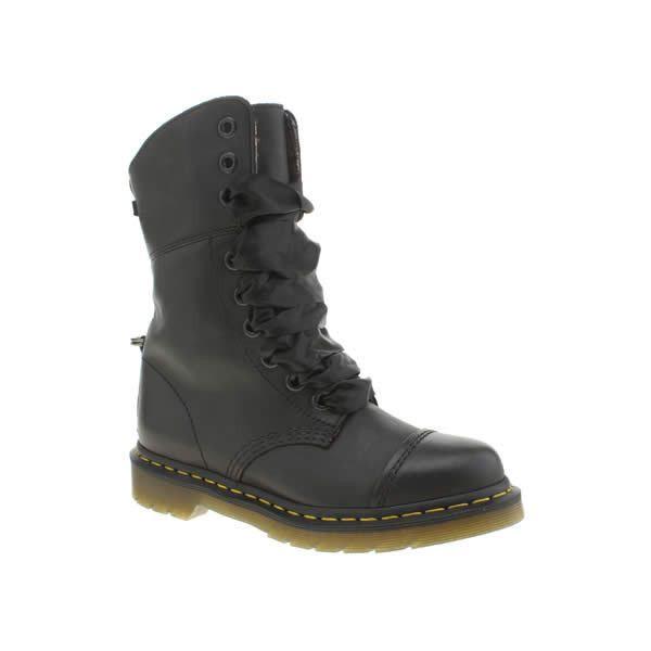 a8873967f70b Dr Martens Black   Pink Triumph Aimilita 9 Eye Boots (€175) ❤ liked ...