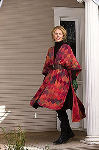 Sunset Ruana pattern by Sharon Falkner | Tejido y Ropa