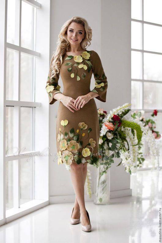 """Платья ручной работы. Ярмарка Мастеров - ручная работа. Купить Платье """"Фейерверк"""". Handmade. Коричневый, индивидуальный пошив"""