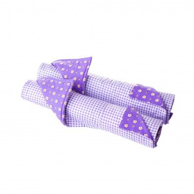 These Lavender Bed Linens for 18 inch Doll Beds is a perfect fit for our Bunk Bed (sold separately).
