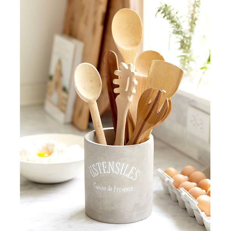 utensil holder in 2019 | Beige kitchen, Kitchen accessories ...