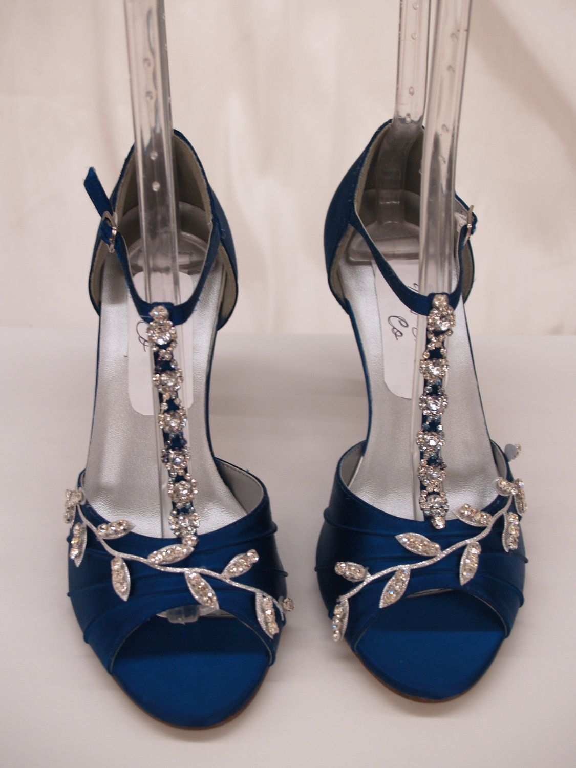 Royalblue wedding shoes crystalsif only i could walk better in