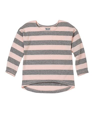 Take a look at this English Rose Stripe Shine Hi-Low Sweater - Infant & Toddler by RUUM on #zulily today!