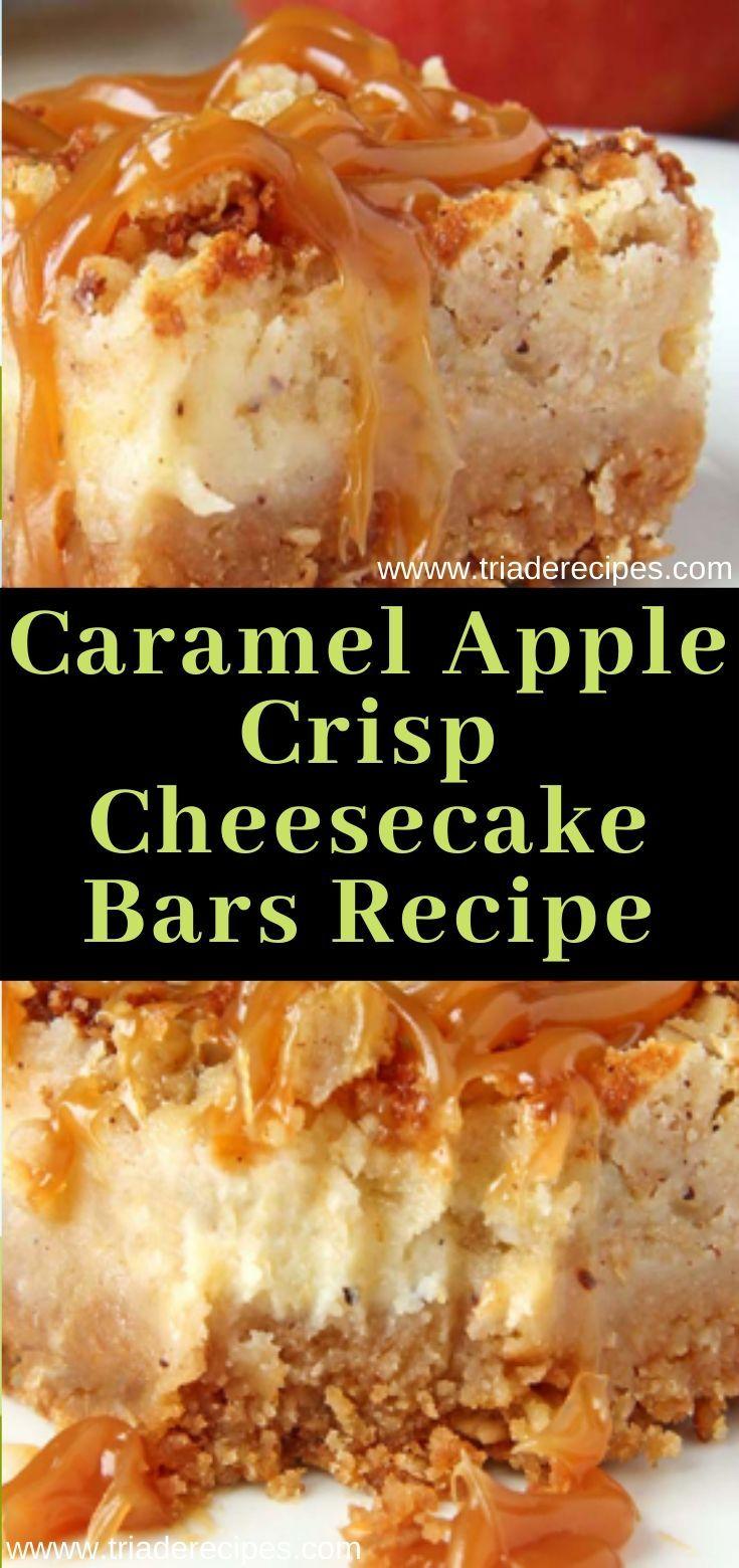 Caramel Apple Crisp Cheesecake Bars Recipe