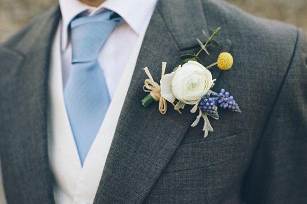 ranunculus buttonhole groom