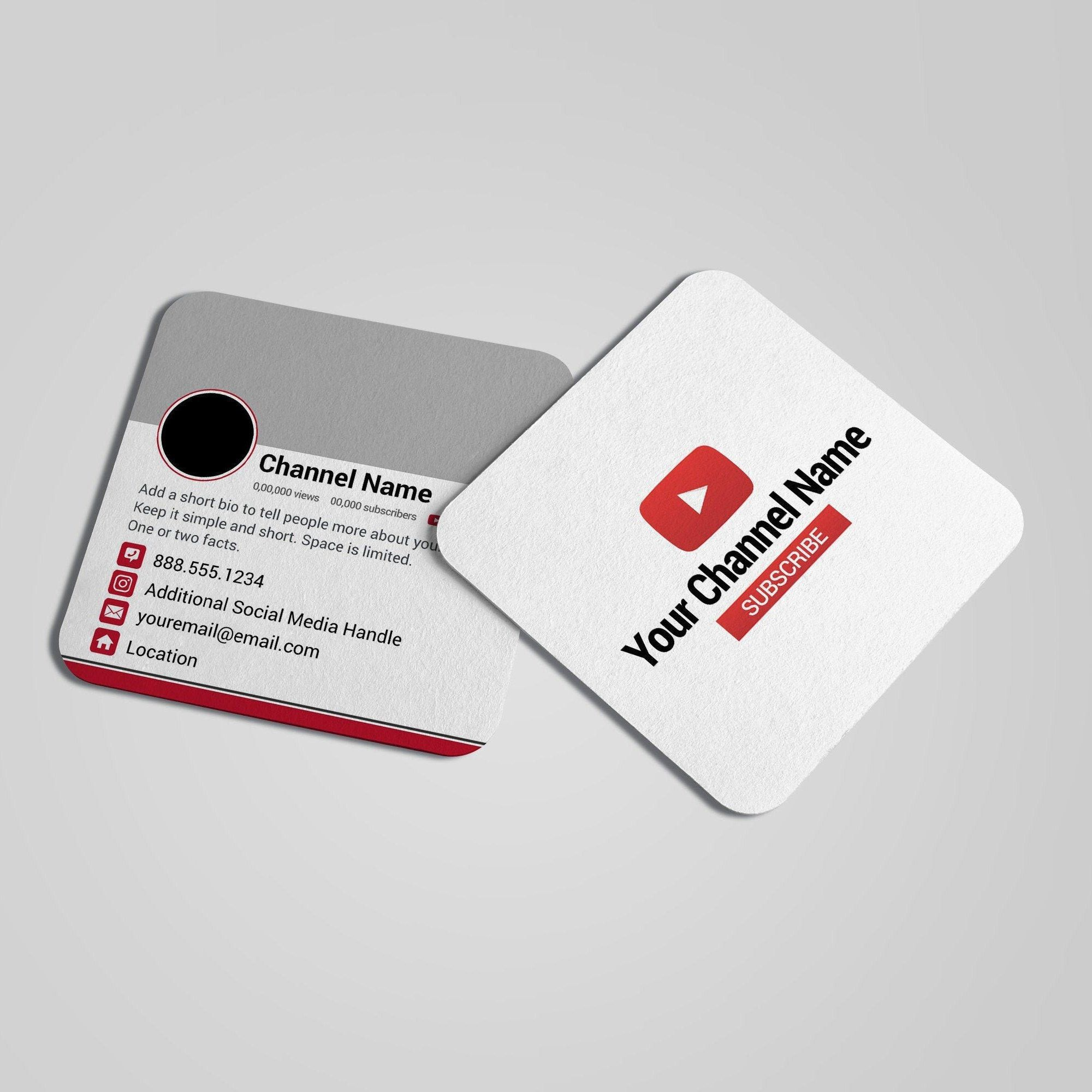 Youtube Social Media Marketing Business Cards Social Media Business Cards Marketing Business Card Graphic Design Business Card