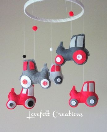 Baby Mobile - Tractor Mobile - Farm Baby mobile #pictureplacemeant