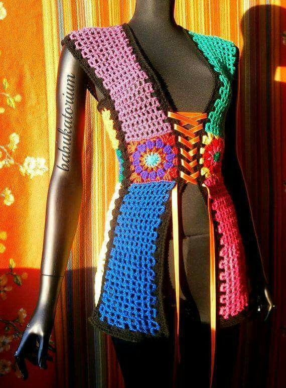 Pin de Eu 📍 Echazarreta en Moda B | Pinterest | Ganchillo, Bolero ...