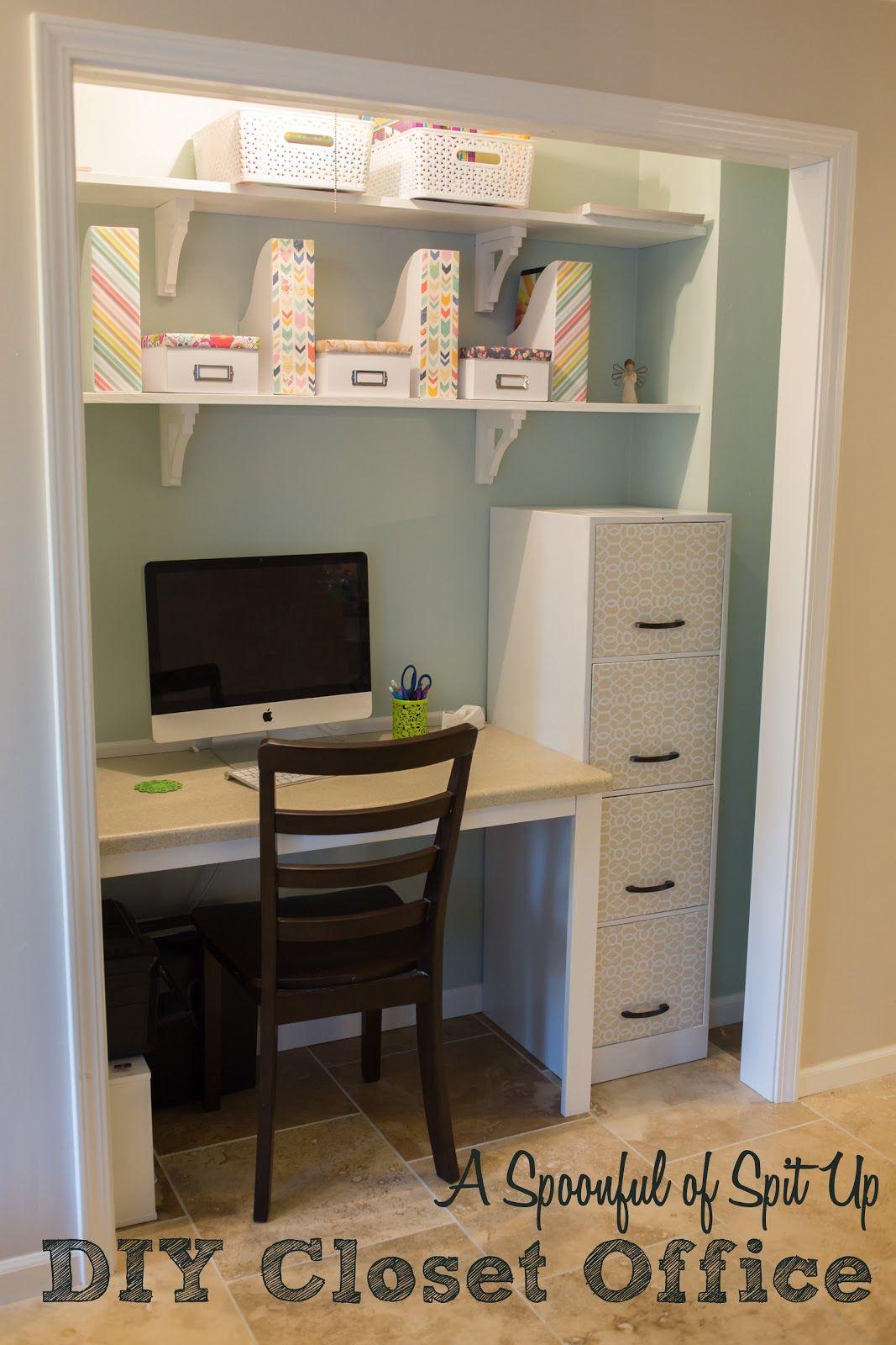 DIY Closet Office  House Ideas  Home office closet
