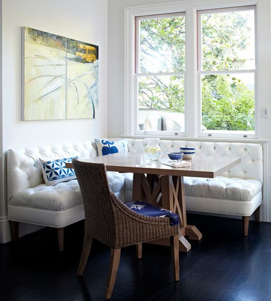 Luxurious House Architecture In The City Fascinating Modern Breakfast Nook Tufted Bench Presidio Heights Residence Wbtourism Inspiration