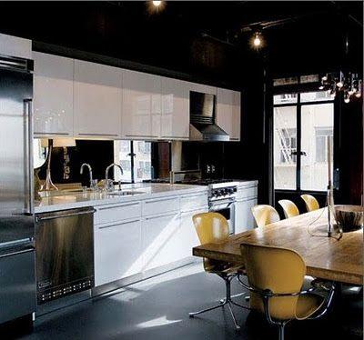 Espejo en la cocina proyectos que intentar pinterest for Cocinas industriales siglo