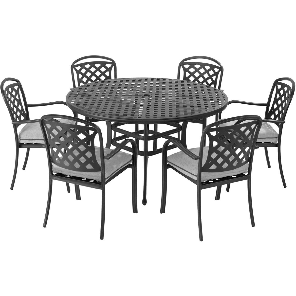 Part Of Our Extensive Range The Hartman Berkeley 6 Seater Round Furniture Set In Midnight
