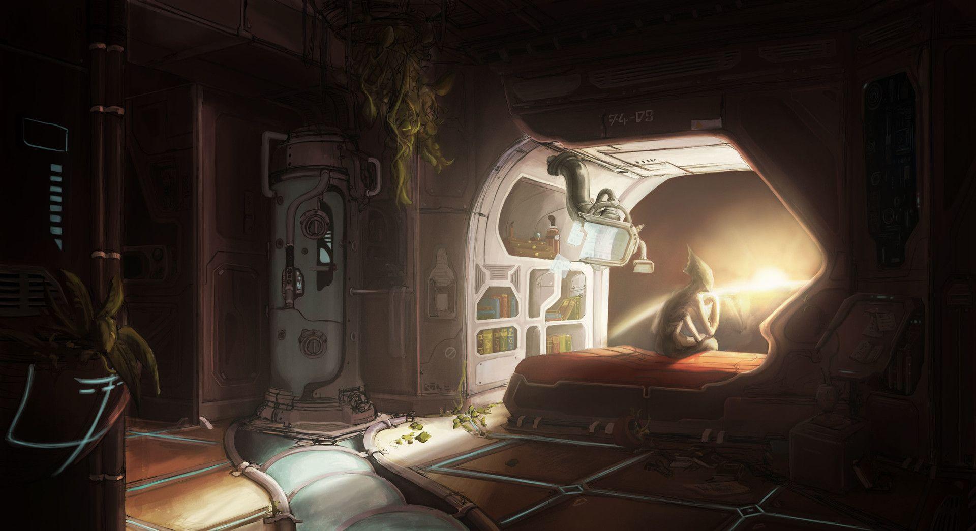 ArtStation - Spaceship Bedroom, Sarah Veniel