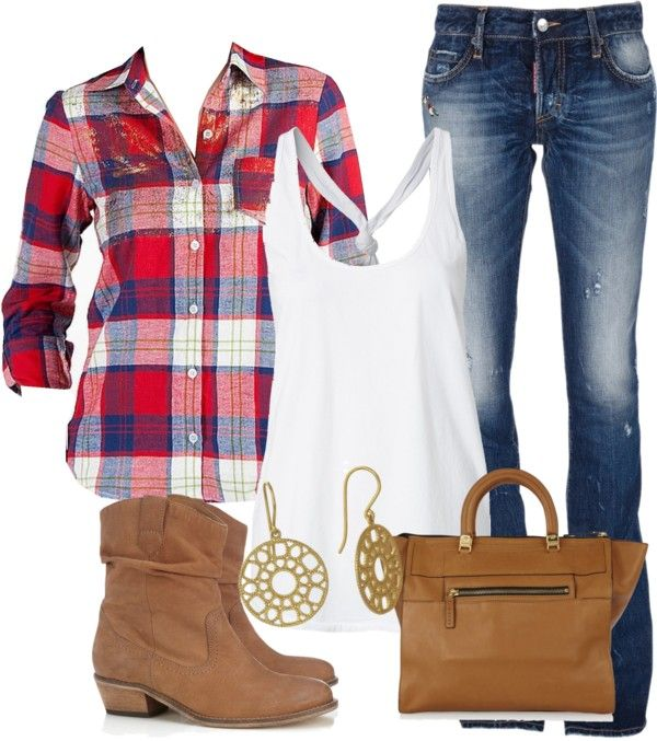 """""""Plaid 2"""" by mhuffman1282 on Polyvore"""