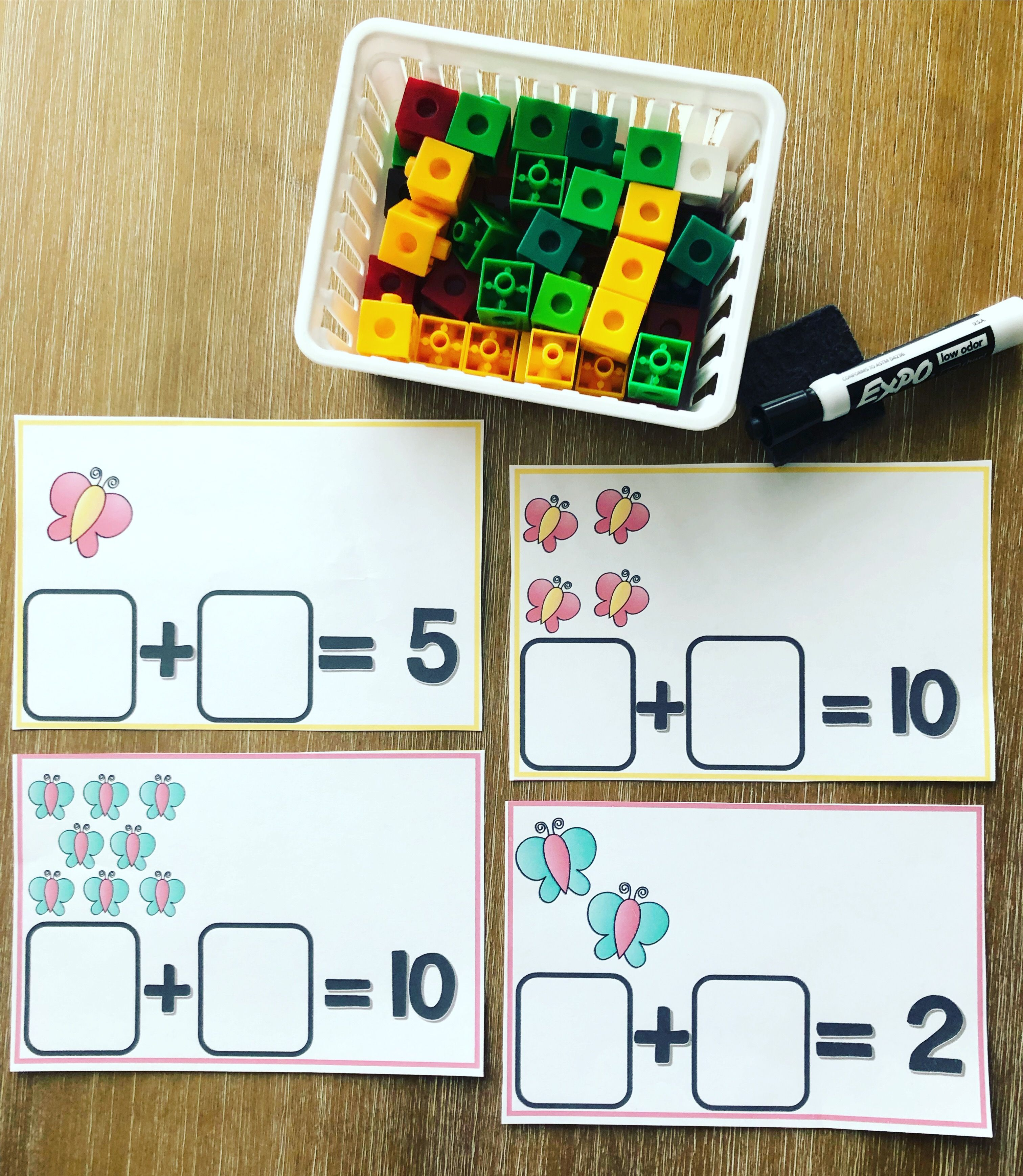 Counting On To Solve Addition Equations Spring Theme