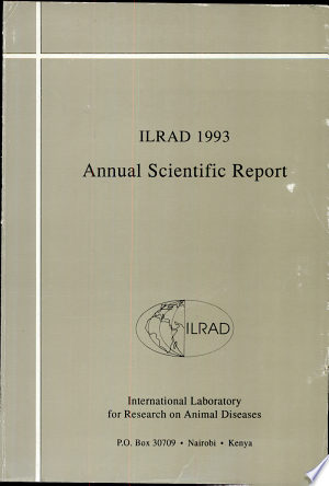International Laboratory For Research On Animal Diseases Annual Scientific Report Pdf Free Scientific Reports Scientific Research