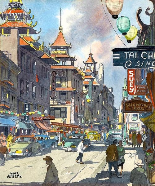 Chinatown C 1950s In 2020 Watercolor Art Arches Watercolor