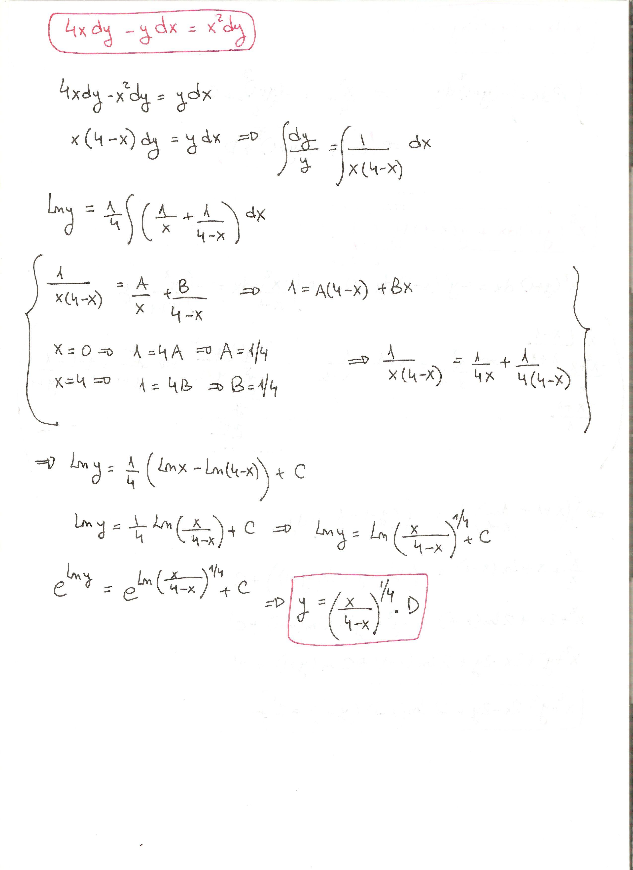 Solución del ejercicio 11 Ecuaciones diferenciales de variables ...
