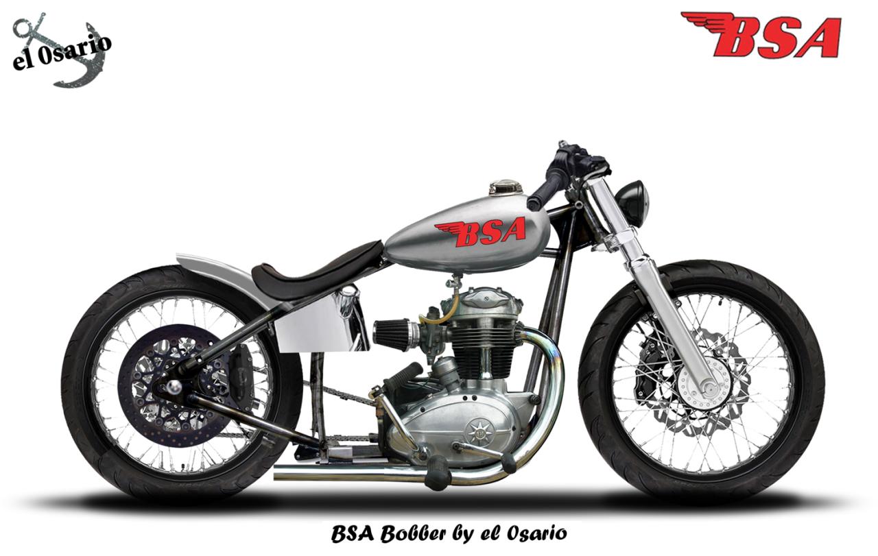 Two wheeled transportation — jack455: el-0sario: BSA Bobber Rigid ...