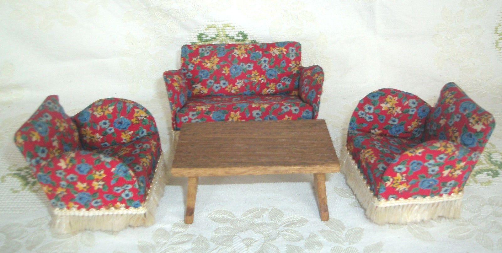 Etagenbett Für Puppenhaus : Sitzgruppe sofa sessel tisch lundby er jahre puppenhaus