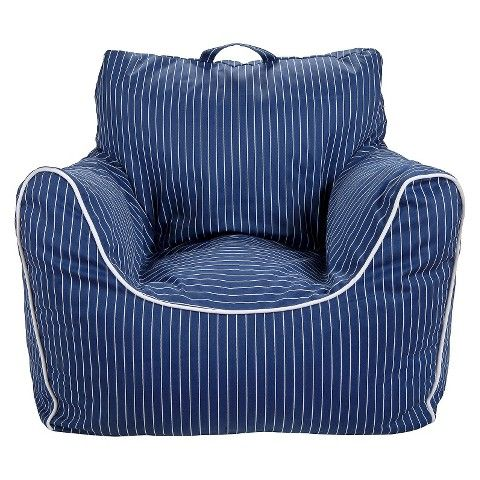 Circo Bean Bag Chair with Removable Cover Pinstripes -- Target, $35