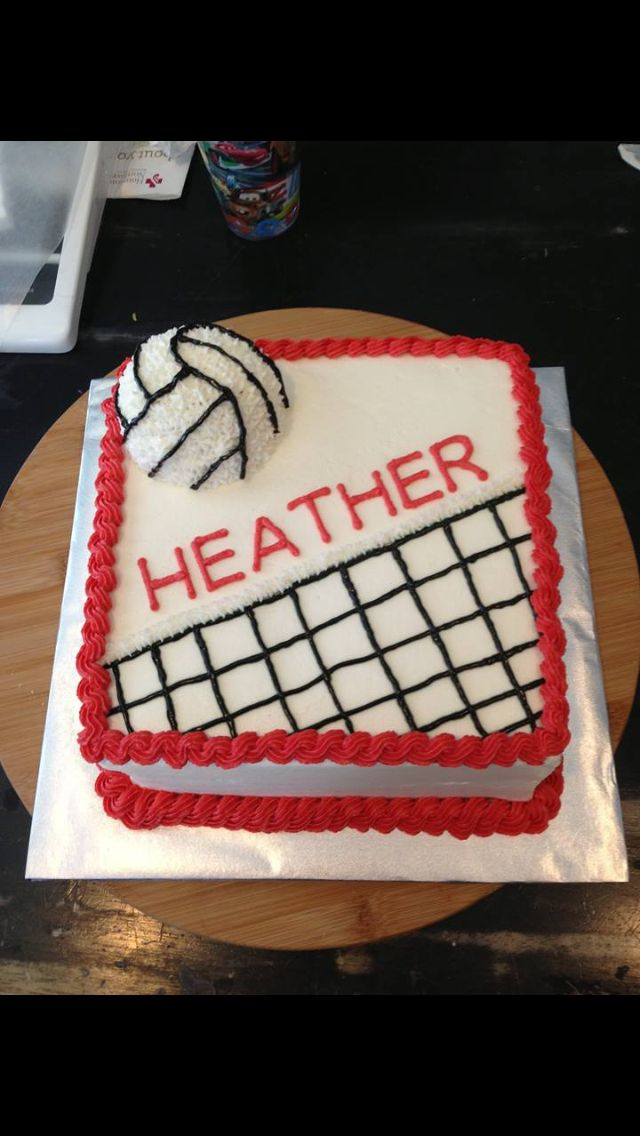 Volleyball Cake Volleyball3 Pinterest Volleyball Cakes