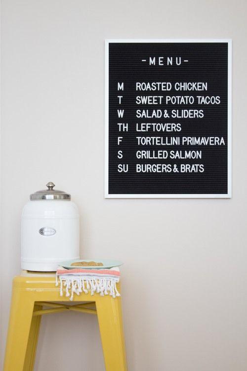 A Diner Style Menu Board For Your Kitchen Felt Letter Board