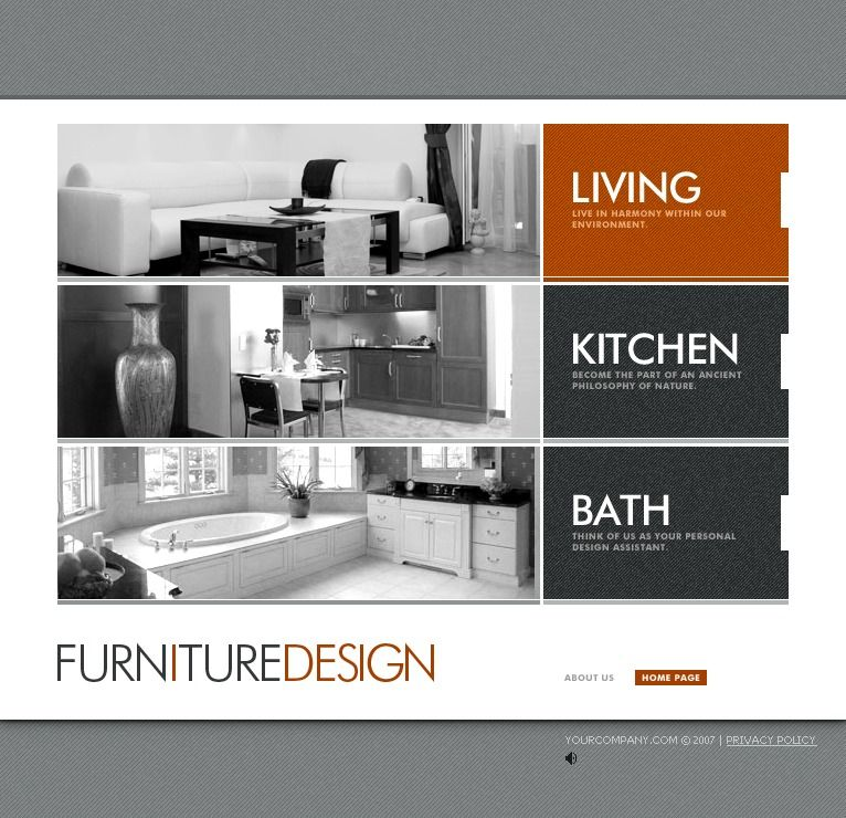 Live Demo Website Design Template 16896 Solutions Interior Profile Company Designers Portfolio