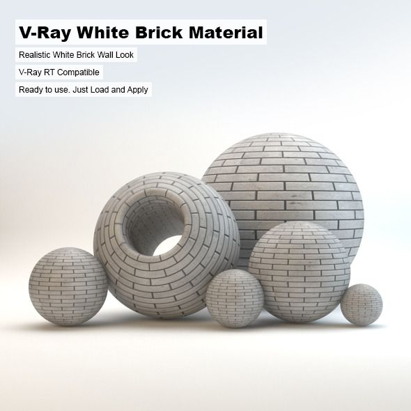 Brick White Map 3ds Max Download Brick Material Concrete Materials Brick