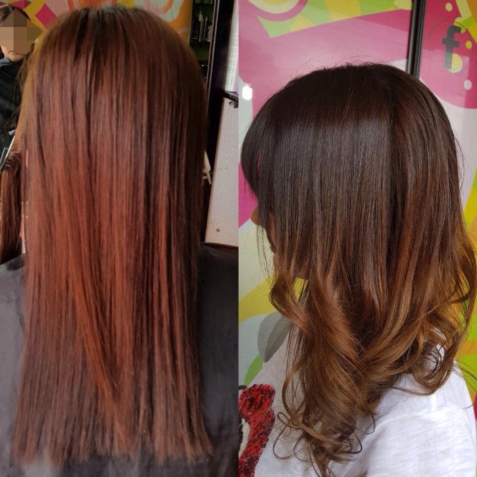 Ya No Mas Rojo Bienvenido Castaño Claro De Base Y Un Sutil Balayage Caramelo Hair Styles Hair Beauty
