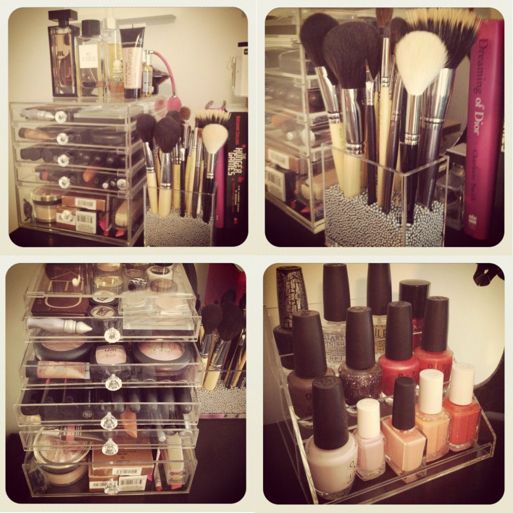 The Kardashian's Arcrylic Makeup Organization. About the only thing I like about the kardashians.....their makeup storage