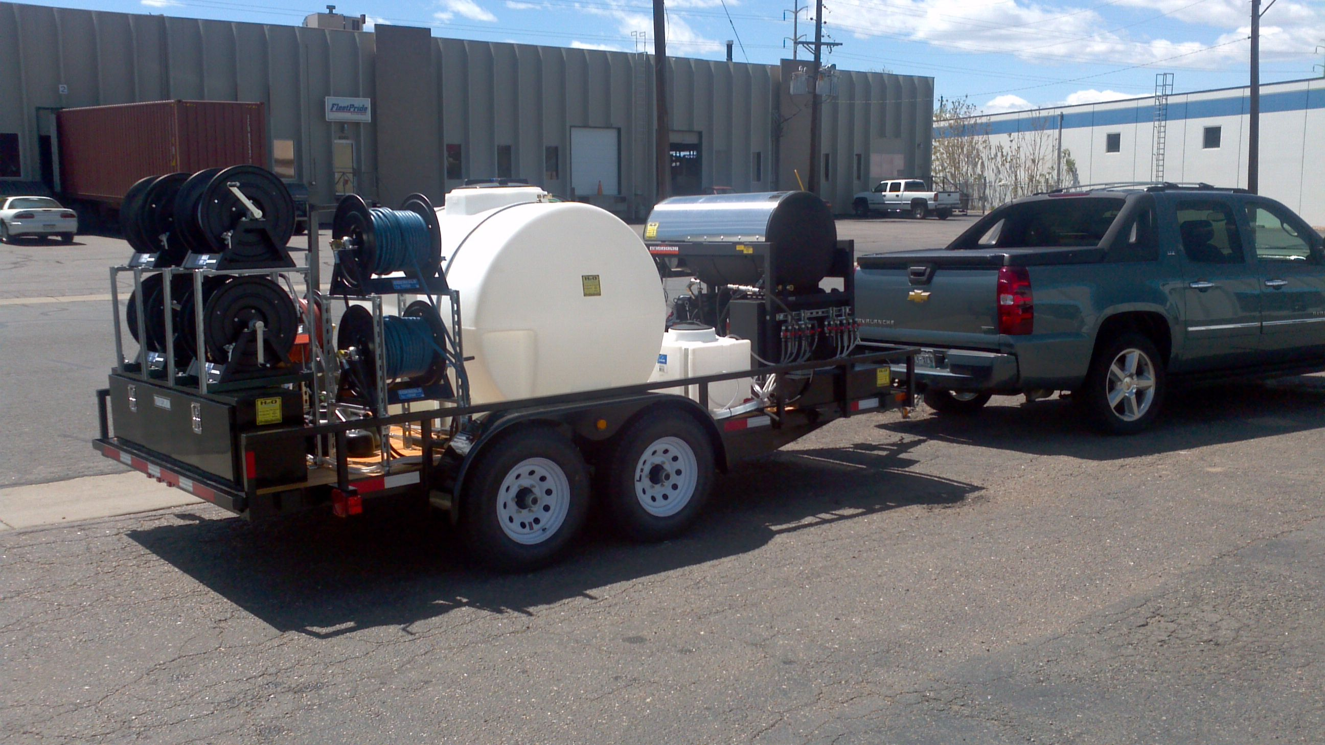 Pressure Washer Trailer Unit Hot Water Pressure Washer Pressure Washing Business Car Wash Business Custom Trailers