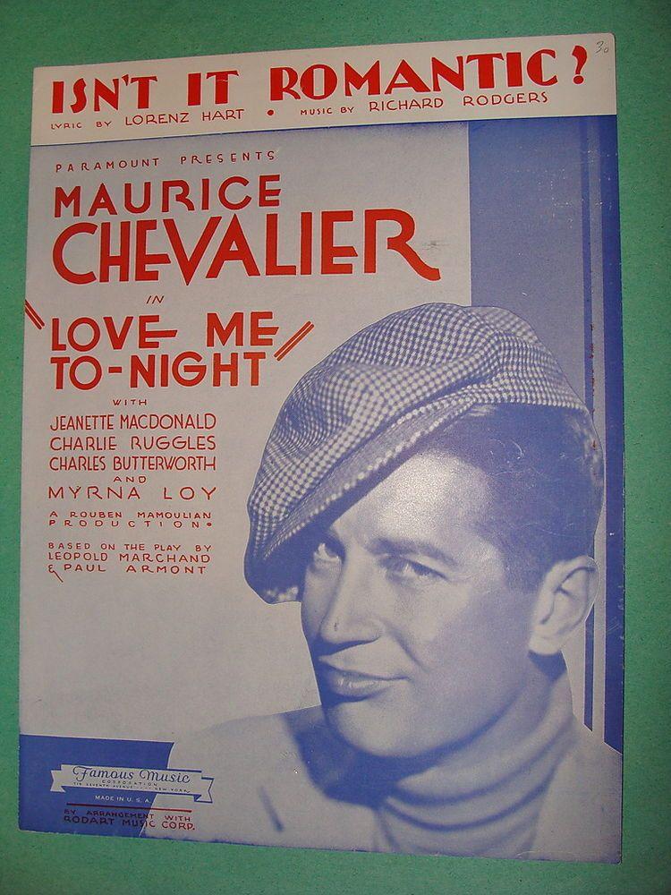 Isn't It Romantic from Love Me Tonight 1932 Rodgers & Hart ...
