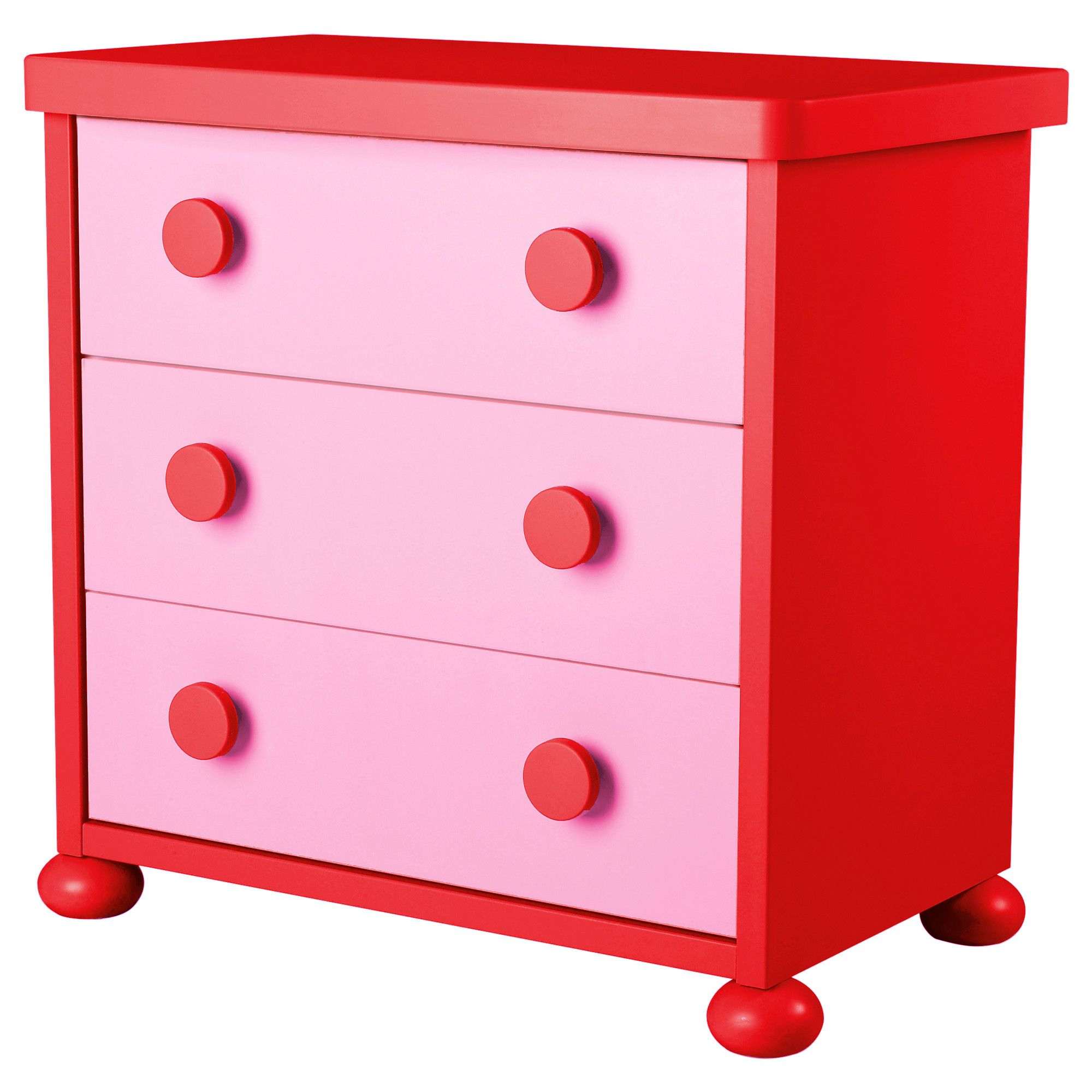 Mammut 3 Drawer Chest Pink Red Ikea Home Decor