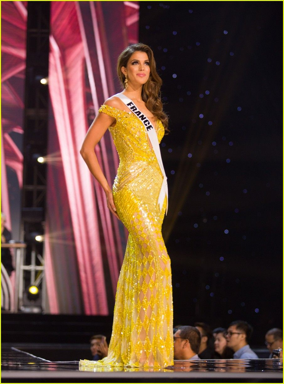 a18eb5f79 France s Iris Mittenaere Wins Miss Universe - Beautiful  Belle  yellow gown  in preliminary round.