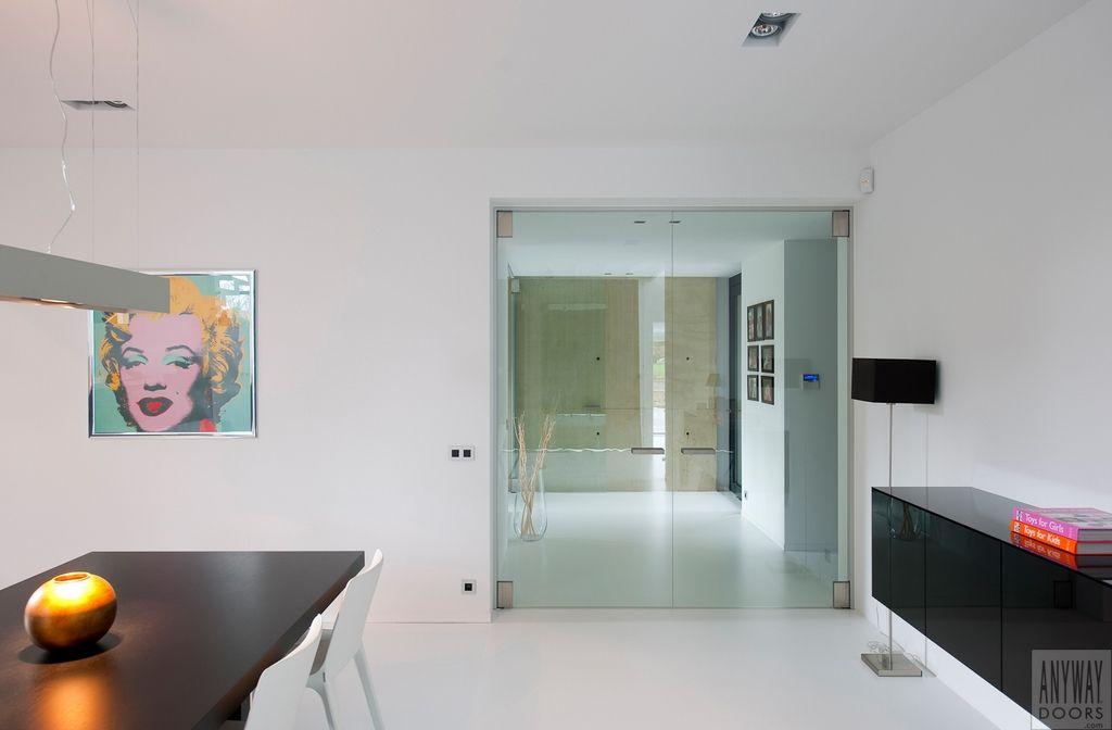 Porte int rieure vitr e double portes vitr es int rieures doors glass door en living room - Double porte interieure vitree ...