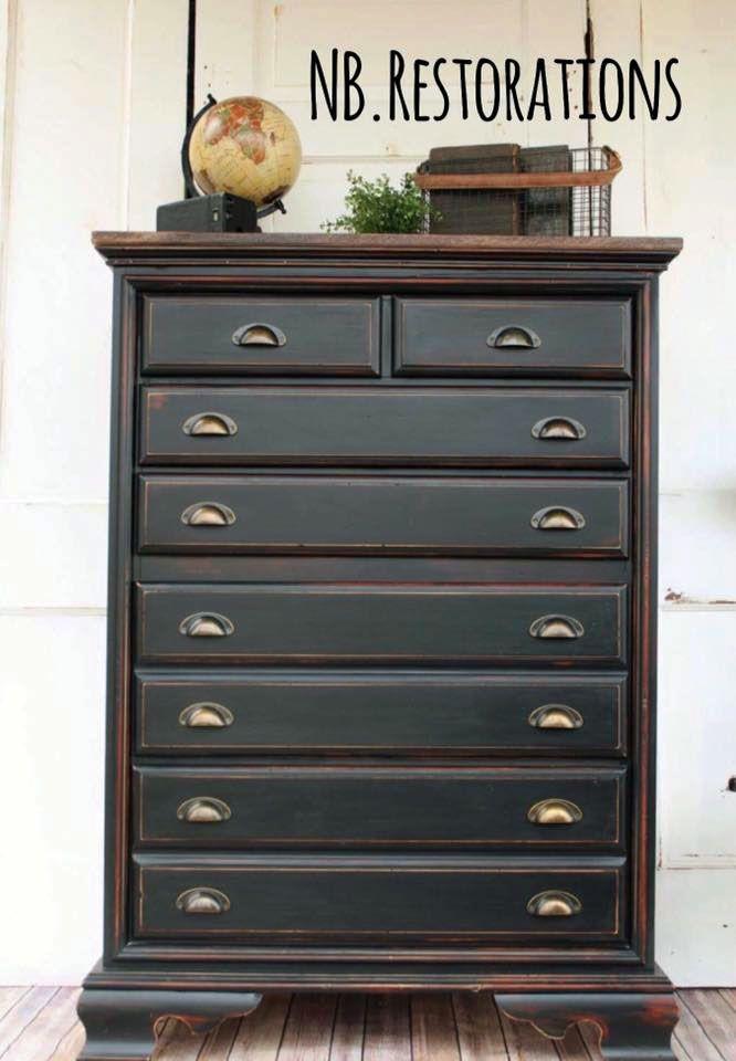 Black Pepper Chalk Style Paint Dresser Cherry Wood Furniture Painting Wood Furniture Cherry Bedroom Furniture