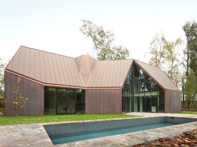 Quand cuivre et effet miroir r inventent le pavillon - Maison pg architekten wannenmacher moller ...