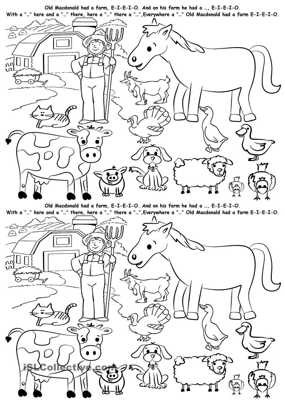 Farm Animals Animal Worksheets Farm Animals Worksheets [ 1440 x 1018 Pixel ]