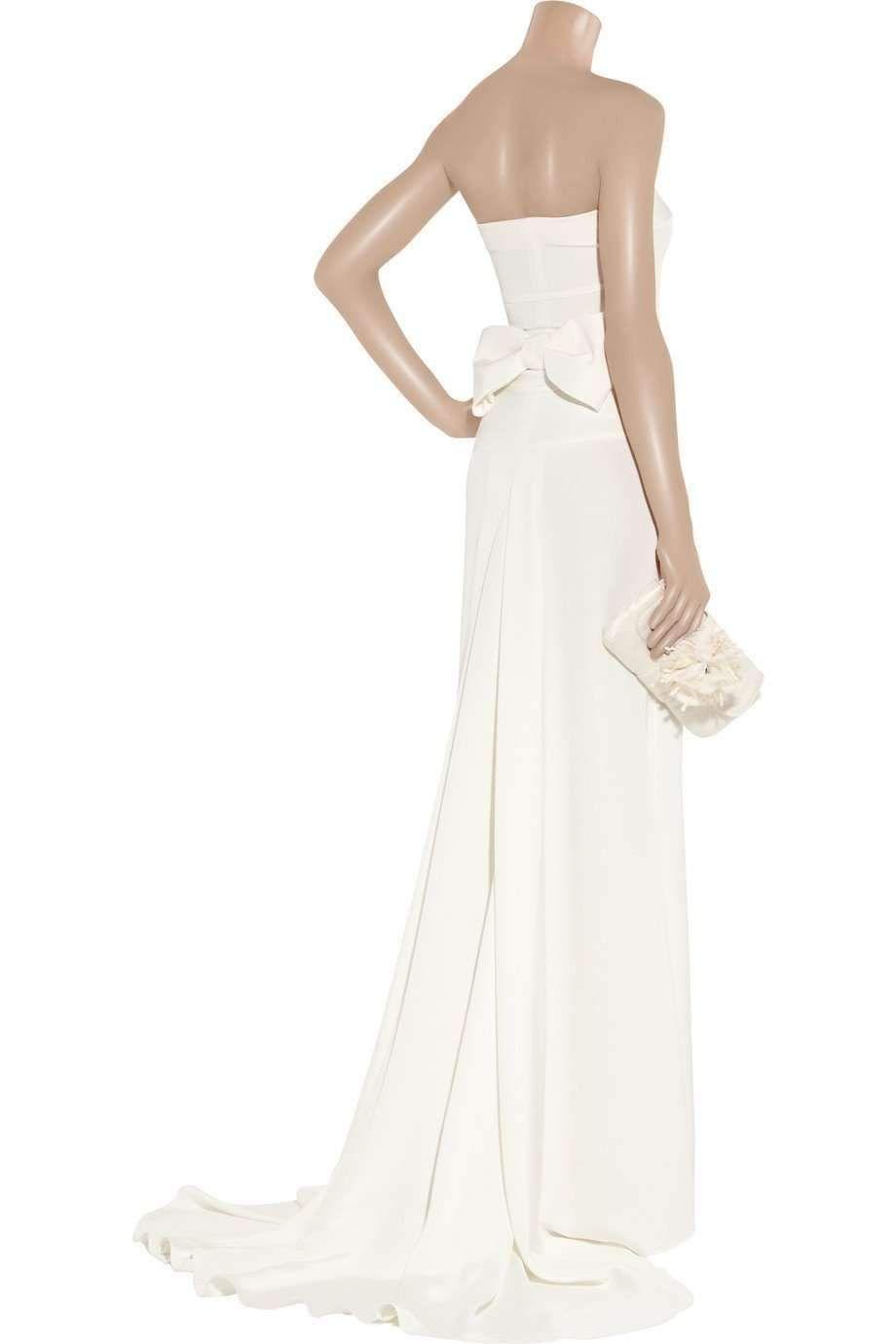 Anne of green gables wedding dress  Valentino Garavani Wedding Ivory White Long Strapless Gown Bow On