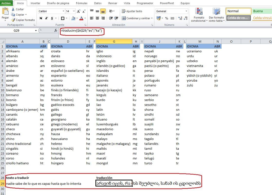 Funcion Para Traducir Texto En Nuestra Hoja Excel Textos Traducir Teoría Política